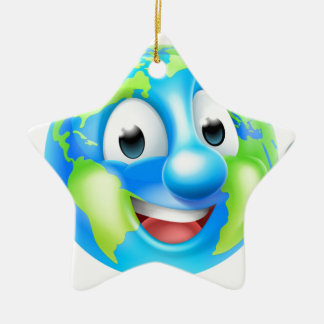 Earth Day Cartoon Character Christmas Ornament