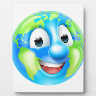 Earth Day Cartoon Character Plaque