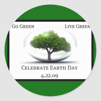 Earth Day Celebration Stickers