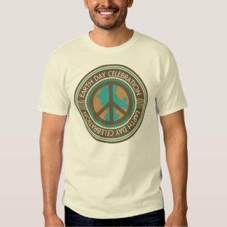 Earth Day Celebration Vintage label Mens T-shirt