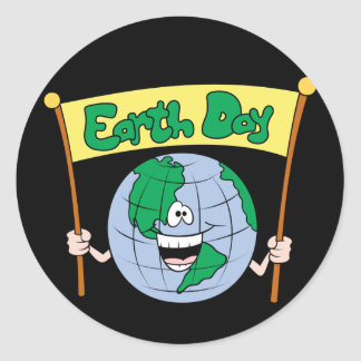 Earth Day Classic Round Sticker
