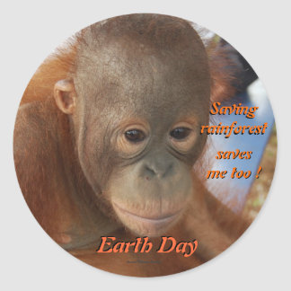 Earth Day Conservation Classic Round Sticker