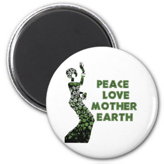 Earth Day Dancer 6 Cm Round Magnet