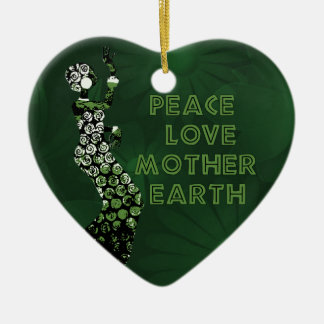 Earth Day Dancer Ceramic Heart Decoration