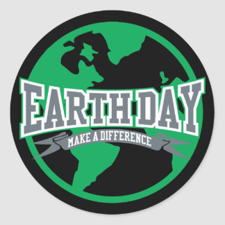 Earth Day Difference Round Sticker