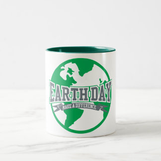 Earth Day Difference Two-Tone Mug