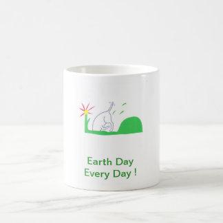Earth Day Dog Digging Mugs