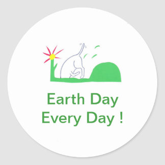 Earth Day Dog Digging Stickers