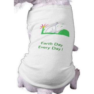 Earth Day Dog Doggie Shirt Digging