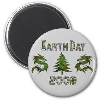 Earth Day Dragons 2009 6 Cm Round Magnet