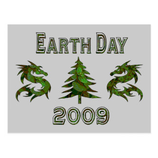 Earth Day Dragons 2009 Postcard