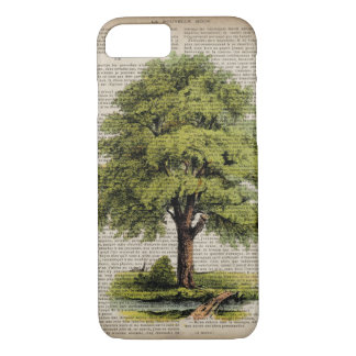 Earth Day ECO dictionary prints vintage oak tree iPhone 7 Case