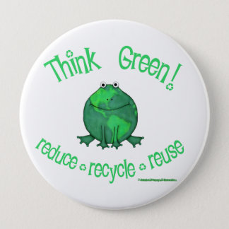 Earth Day Environmental 10 Cm Round Badge