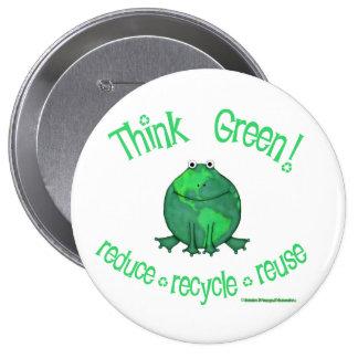 Earth Day Environmental 10 Cm Round Badge