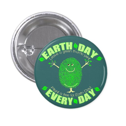 Earth Day Environmental Pinback Button