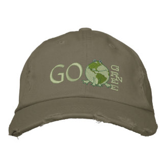 Earth Day Environmental Embroidered Baseball Caps