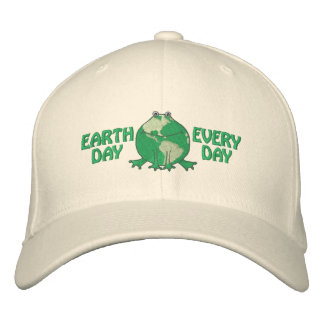 Earth Day Environmental Embroidered Hats