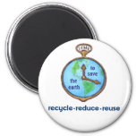 Earth Day Environmental Frog Refrigerator Magnets