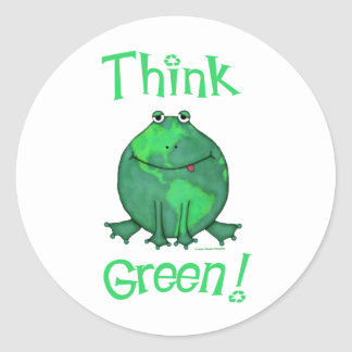 Earth Day Environmental Round Sticker