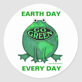 Earth Day Environmental Round Stickers