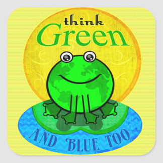 Earth Day Environmental World Frog Stickers