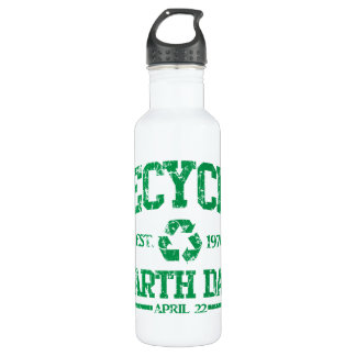 Earth Day Est 1970 Recycle 710 Ml Water Bottle