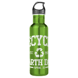 Earth Day Est 1970 Recycle 24oz Water Bottle