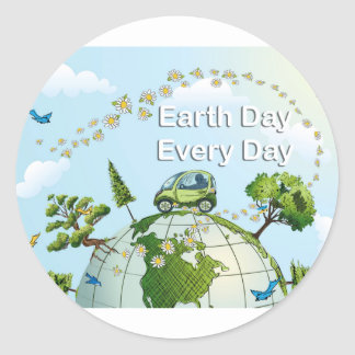 Earth Day Every Day 02 Round Sticker