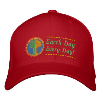 Earth Day Every Day Embroidered Hat