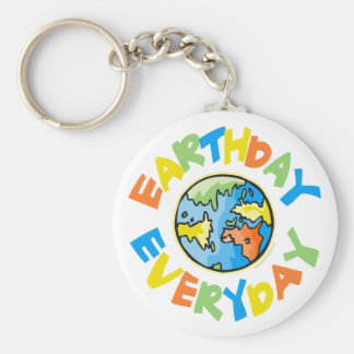 Earth Day Every Day Key Ring