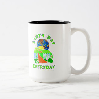 Earth Day Every Day Two-Tone Mug