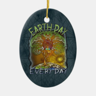 Earth Day Every Day Personalized Ceramic Oval Decoration