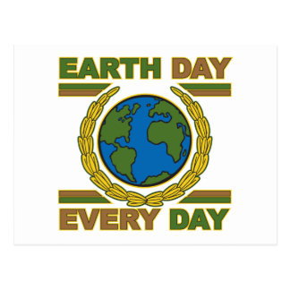 Earth Day Every Day Postcard