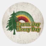 Earth Day Every Day, Retro Rainbow