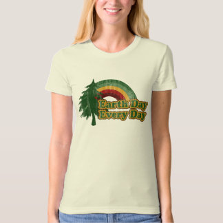 Earth Day Every Day, Retro Tree T-Shirt