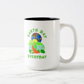 Earth Day Every Day Two-Tone Coffee Mug