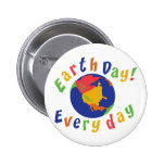Earth Day Everyday 6 Cm Round Badge