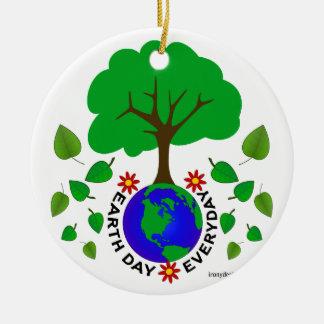 Earth Day Everyday Round Ceramic Decoration