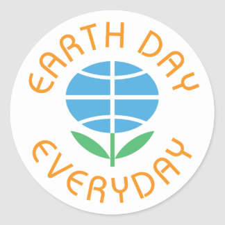 Earth Day Everyday Round Sticker