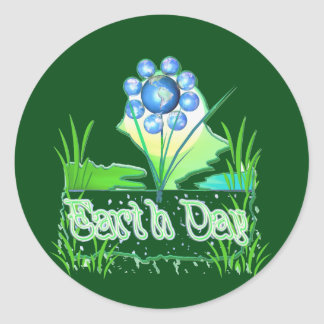 Earth Day Flower Stickers