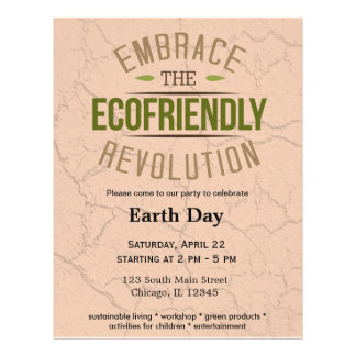 Earth Day 21.5 Cm X 28 Cm Flyer