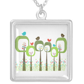 Earth Day Forest Trees Necklace