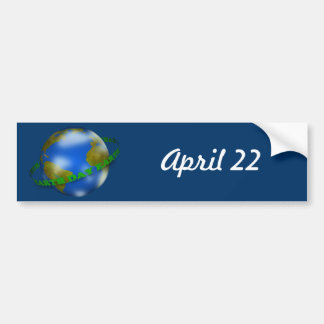 Earth Day Globe Bumper Sticker