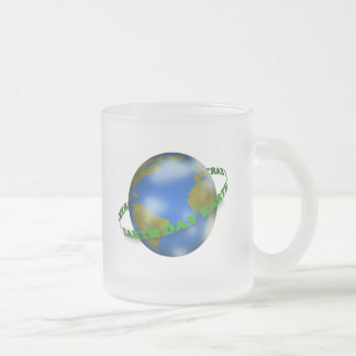 Earth Day Globe Frosted Mug