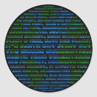 Earth Day Globe Round Sticker