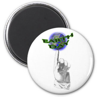 Earth Day Globe Spinning on a Finger 6 Cm Round Magnet