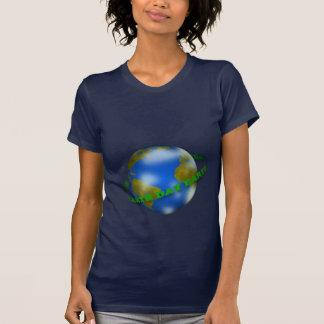 Earth Day Globe Women Blue T-Shirt