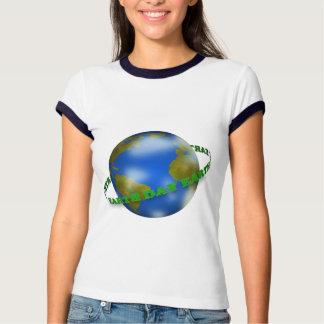 Earth Day Globe Women Ringer T-Shirt