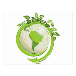 EARTH DAY GO GREEN POST CARD