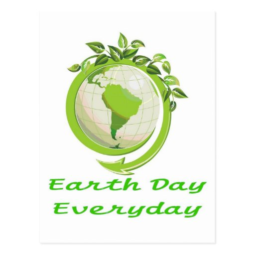 EARTH DAY GO GREEN POST CARDS